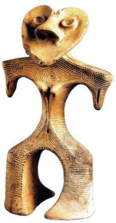 Japanese clay figure made in Jyomon era (BC 145~3000)