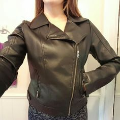 Leather Jacket One of my favorites that just isn't for me anymore. Super soft inside and out, very comfortable. Medium/large. Great condition. Wet Seal Jackets & Coats