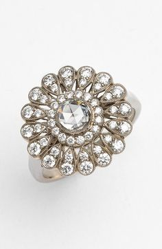 Kwiat 'Vintage' Diamond Flower Ring available at #Nordstrom