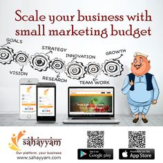 Scale your vusinees with small marketing buget  http://sahayyam.com Our platform, your business.  Grow a business without a large budget  #SellingOnline #OnlineStore #OnlineSellers #OnlineShopping #order #Shop #online #Sahayyam #ShopOnline #eCommerce #DigitalIndia #business #GooglePlay #AppStore