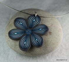 Polymer Flower Pendant on a simple wire