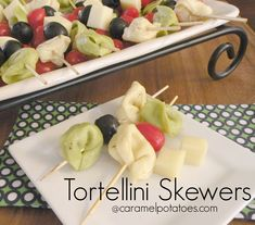 Tortellini Skewers - one of our most requested recipes!  Always the favorite at parties!
