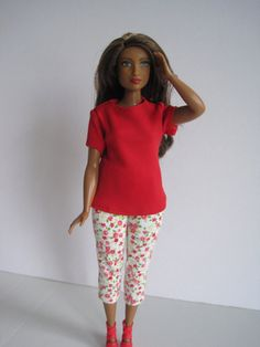 CURVY Barbie Red Outfit by glissando on Etsy Barbie Life 69a9c6b1f