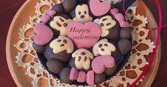 バレンタイン♡ミッキー&ミニーちぎりパン by noripetit [クックパッド] 簡単おいしいみんなのレシピが248万品