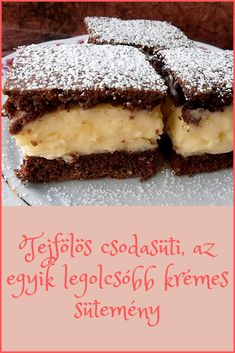 Hungarian Desserts, Hungarian Recipes, No Carb Recipes, Super Healthy Recipes, Cookie Desserts, Dessert Recipes, Good Food, Yummy Food, Baking And Pastry