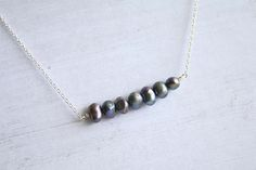 pearl bar necklace tiny pearl necklace gifts for her