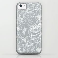 Of Peonies & Poppies - Paloma Blue Edition iPhone & iPod Case
