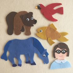 5 Little Fishes Teasing Mr Shark Learn to Count and Name Flannel Board Stories, Felt Board Stories, Felt Stories, Flannel Boards, Felt Board Templates, Felt Board Patterns, Bear Felt, Little Blue Trucks, Polar Animals