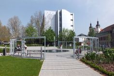 Univerzitné námestie, Trnava Slovakia Sidewalk, Mansions, House Styles, Sun, Manor Houses, Side Walkway, Villas, Walkway, Mansion