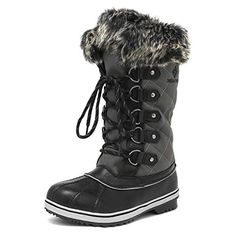 Price: (as of - Details) DREAM PAIRS Women's Mid-Calf Winter Snow Boots man-made material Synthetic sole Shaft measures approximately from arch Boot openin Winter Socks, Winter Snow Boots, Mens Snow Boots, Rain Boots, Cold Weather Boots, Only Shoes, Mid Calf Boots, Me Too Shoes, Women's Shoes