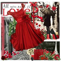 """""""Red Love"""" by stacey-yecats ❤ liked on Polyvore"""