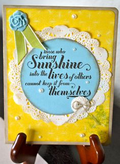 Sunshine Greeting Card by TheRoundedCorner on Etsy, $5.00