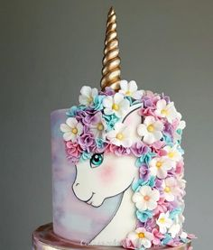 Miss Unicorn - cake by Couture cakes by Olga - Theme cakes - Unicorn Cake Design, Unicorn Cake Topper, Unicorn Cakes, Fondant Cakes, Cupcake Cakes, Cupcakes, Unicorn Themed Cake, Couture Cakes, Zucchini Cake