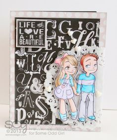 Card created with the Hand Holding Mae and Kody digi stamp from @Some Odd Girl