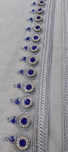 Embroidery On Kurtis, Kurti Embroidery Design, Hand Embroidery, Moroccan Dress, Caftans, Silver, Gold, Accessories, Jewelry