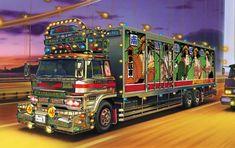 デコトラ浪漫 Japanese Cars, Japanese Style, Industrial Machine, Road Train, Machine Design, Cool Trucks, Custom Art, Concept Cars, Nissan