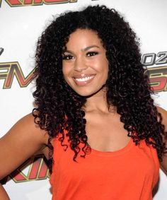 Jordin Sparks. love her naturally curly hair.
