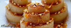Kitchen Stories: Sweet Semolina Halva with Honey Greek Sweets, Greek Desserts, Honey Recipes, Greek Recipes, Egg Free Desserts, Dessert Recipes, Food To Make, Delicious Desserts, Honey
