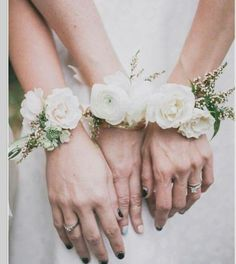 Greenery White Wedding Inspiration Leafy Green corsages - Greenery corsages - Rose Floral Wedding corsages - - Wedding colors - wedding color palettes - wedding color ideas - Greenery wedding ideas - Green and White wedding Bridesmaid Corsage, Wedding Bridesmaids, Wedding Bouquets, Wedding Corsages, Bridesmaid Ideas, Ranunculus Wedding, Ranunculus Bouquet, White Ranunculus, White Roses