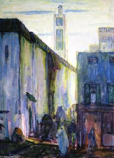 'In Constantine', Watercolour by Henry Ossawa Tanner (1859-1937, United States)