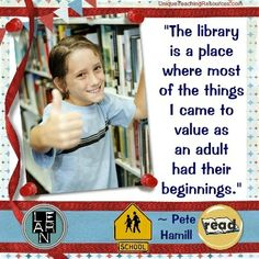 Download free posters and graphics for these quotes about libraries, reading, literacy, and literature.  Great to use as quotes of the day and as decorations in a school library.  These library quotes are ideal to use for Facebook posts, teacher blogs, and school newsletters.