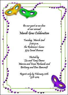find larege collection of creative party invitation designs for Mardi Gras invitations at InvitationsByU Mardi Gras