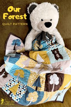 Modern forest and animal applique quilt for a boy from Magic Little Dreams. The Pattern includes comprehensive applique sew along videos. Check it out! Handmade Baby Gifts, Handmade Toys, Quilting Projects, Sewing Projects, Sports Quilts, Applique Quilt Patterns, Tree Quilt, Animal Quilts, Boy Quilts