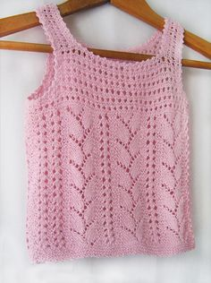 A pink butterflysummer hand knitting top for girls by Benivision, $22.00