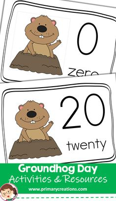 Practice counting skills with these Groundhog Day resources. Preschool Groundhog, Groundhog Day Activities, Preschool Printables, Preschool Crafts, Preschool Activities, Tot School, Teaching Resources, Counting, February