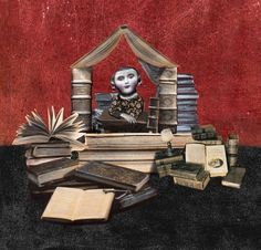 """Lady book"" Collage - Illustrati N°8 ""Una vita di carta""- Logos Edizioni 2012"