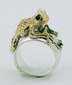 Frog Ring Silver Frog Enchanted Frog Prince Ring Frog Jewelry Frog