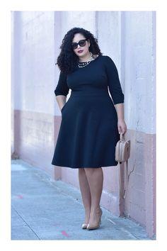 ¿Quieres ser una influencer? 😍👏💋 Descubre cómo en TiZKKA 📲#TiZKKAmoda #vestido #negro #dress #black #zapatos #nude #accesorios #lentes #collar #bolsa #look #officer Stilettos, Tanesha Awasthi, Girl With Curves, Collar, Plus Size, Denim, Girls, How To Wear, Outfits