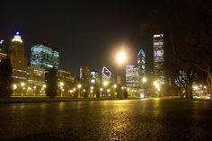 Chicago - centum miasta w nocy... Chicago - Illinois - USA #Chicago #Illinois #USA #photography #city #Polacy_w_USA #Polonia #wietrzne #miasto #windy #city