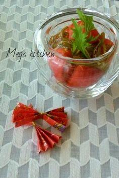 じゅんさいとトマトの生姜ポン酢和え
