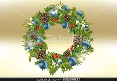 Christmas wreath - vector eps 10 illustration