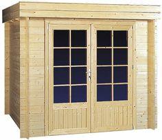 Blokhut / tuinhuisje model Wielewaal afmetingen 297 x 250 cm van Woodvision Garage Doors, Outdoor Decor, Google, Model, Home Decor, Decoration Home, Room Decor, Scale Model