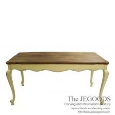 Jepara antique mahogany french dining table carving shabby chic furniture, handmade carving and well manufactured in Jepara - Central Java. Export quality.