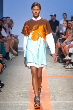 Fresh prints and mix of colors. MSGM Spring 2014 Ready-to-Wear Collection Slideshow on Style.com #fashion #designer #runway