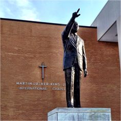 Statue of Dr. Martin Luther King, Jr. at Morehouse College in Atlanta, Georgia.