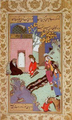 Visit to a dervish Makhzan al-Asrar. Safavid Isfahan, 1610. Hazine 1641, folio 26a