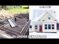 Ever dreamed of building a house from the ground up? Well, this family of four did it - all while trying to be as eco-conscious as possible! Watch them go from raw land to house in the trees in under 15 minutes. Sustainable Building Materials, Sustainable Architecture, Sustainable Design, Green Building, Building A House, Tiny House Company, Bohemian Bedroom Decor, Moldings And Trim, Tiny House Movement