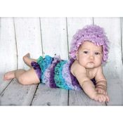 PURPLE TEAL BLUE BABY ROMPER adorable baby photo prop only $19.00 from http://www.backdropoutlet.com