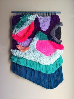 Woven wall hanging / Furry Lanscape, by jujujust