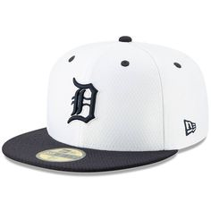 68b8733eb1c Men s Detroit Tigers New Era White Navy 2019 Batting Practice Home 59FIFTY  Fitted Hat