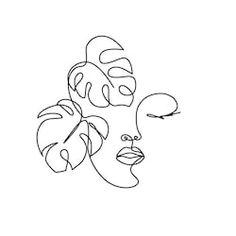 Cartera de fotos e imágenes de LivDeco, sobre 257 imágenes de alta calidad libres de regalías. Female Face Drawing, Face Line Drawing, Line Art Design, Face Icon, Face Lines, Diy Canvas Art, Minimalist Art, Face Art, Woman Face