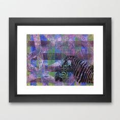 Gel Zebra Profile Framed Art Print by Rachel Winkelman - $32.00