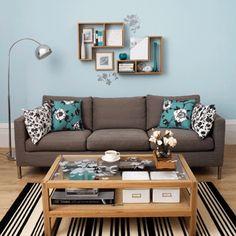 schwarze couch deko wohnen pinterest couch schwarzer und deko. Black Bedroom Furniture Sets. Home Design Ideas