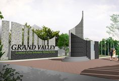 Main Gate Design, Entrance Design, Landscape Architecture, Landscape Design, Monument Signage, Compound Wall Design, Entrance Signage, School Entrance, Gate Way