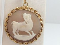 LARGE 12KT GOLD FILLED CAMEO SHELL PENDANT