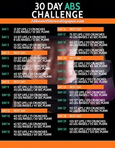 30-day abs challenge ~ 24 hour fitness